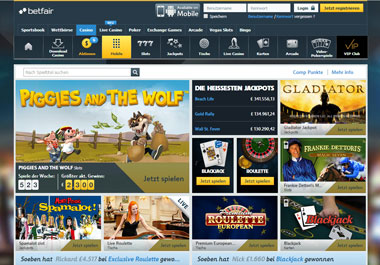 Das Betfair Casino testen